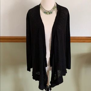 Simply Noelle black burnout drape cardigan S/M